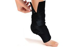 Image 2 of Zippered Adjustable Ankle Compression Support
