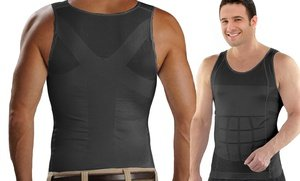 Image 2 of Insta Trim Men's Compression and Body-Support Undershirt