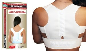 Image 2 of Posture Corrective Pro Therapy Back Brace with Magnets
