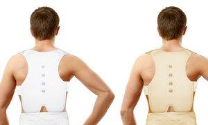 Image 2 of Padded Back and Shoulder Magnetic Posture Support