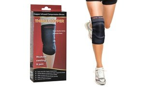 Image 2 of TheraCopper Copper-Infused Compression Knee Brace 3 Oz