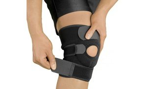 Image 2 of TheraCopper Adjustable Knee Support Brace 2 Lbs