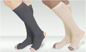 Image 0 of Pair of Drainer Compression Socks with Gel