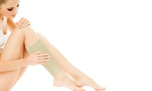 Image 0 of TheraCopper Copper-Infused Compression Calf Sleeves in Black or Nude 0.5 Oz