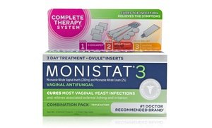 Monistat 3 Antifungal Three-Day Treatment 4x0.32 Oz