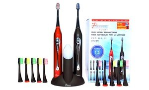Image 2 of Pursonic Dual Sonic Electric Toothbrush Set with UV Sanitizer