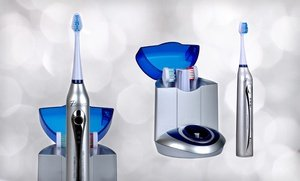 Image 2 of Pursonic Deluxe Sonic Toothbrush with 12 Brush Heads and UV Sanitizing Function