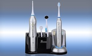Image 2 of Deluxe Sonic Toothbrush and Oral Irrigator Combo Set 20 Pc