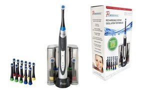 Image 2 of Pursonic Toothbrush with 12 Brush Heads