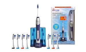 Image 2 of PURSONIC S500 Deluxe Plus Rechargeable Sonic Toothbrush with 12 Brush Heads