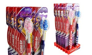 Image 0 of Close-Up Right Angle Toothbrushes with Medium or Soft Bristles 12 Pk