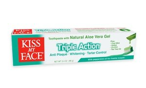 Kiss My Face Triple-Action Fluoride-Free Gel Toothpaste 12x3.4 Oz