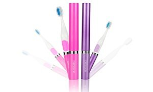 Image 2 of Cenoire Eluo Ultra Sonic Toothbrushes and Four Replacement Brush Heads 2 Pk