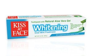 Kiss My Face Whitening Fluoride or Fluoride-Free Toothpaste 12x3.4 Oz