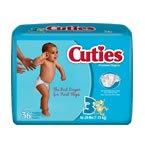 Cuties Baby Diapers SIZE 3 16-28LBS 36 Bg