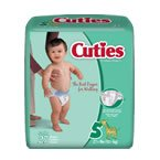 Cuties Baby Diapers SIZE 5 27 LBS 27 Bg