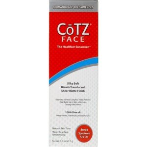 Image 0 of Cotz SPF 40 Face Natural Skin Tone Cream 1.5 Oz