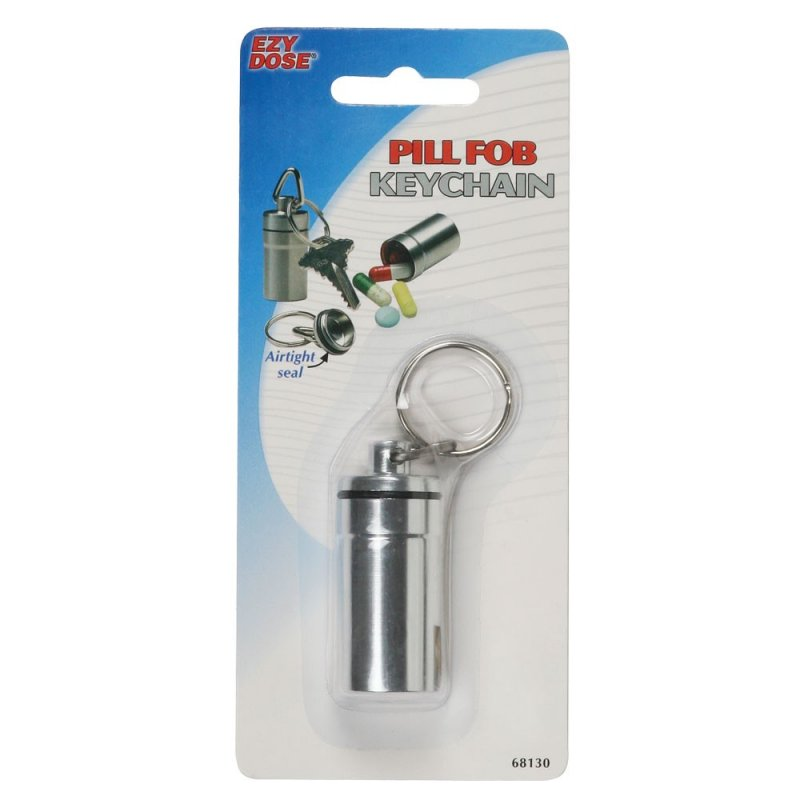Image 1 of Pill Fob Keychain Silver (6 Pack)