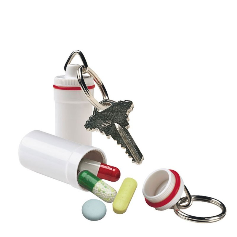 Image 0 of Plastic Pill Fob Keychain (6 Pack)