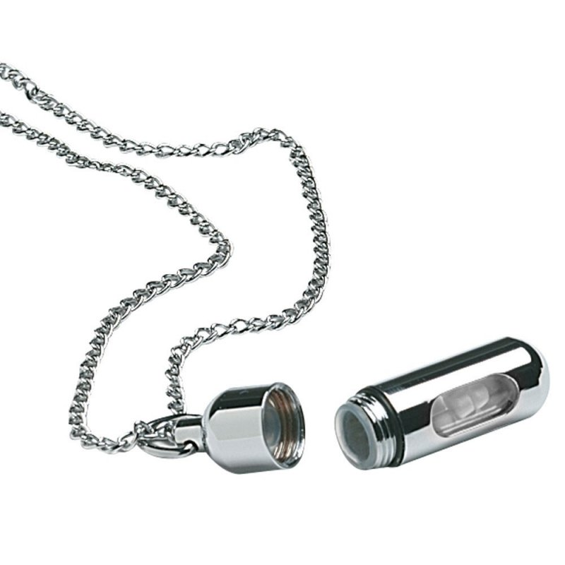 Image 0 of Pill Necklace Silver with Window (3 Pack)