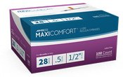 Aimsco Maxi2 Syringes 28G .5CC 1/2 100 Ct By Delta Hi-Tech Inc