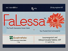 Falessa 28 Days 1 Mg Tablet Kit 1 Ct By Avion Pharma. Free Shipping