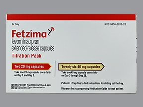 Fetzima Titra Pack 20-40 Mg 28 Caps By Actavis Pharma.