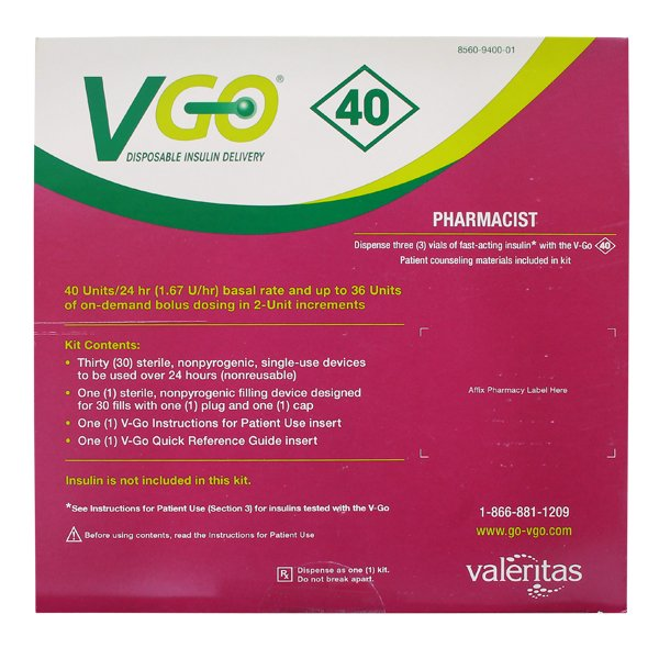 Vgo 40 Kit 30 By Valeritas Inc.