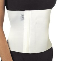 Abdominal Support White Sm/Med 30-45'' by DJ Orthopedic One