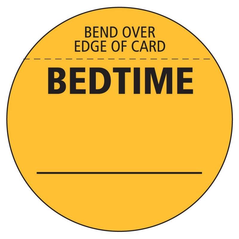 Unit Dose Bedtime Label 1000ct
