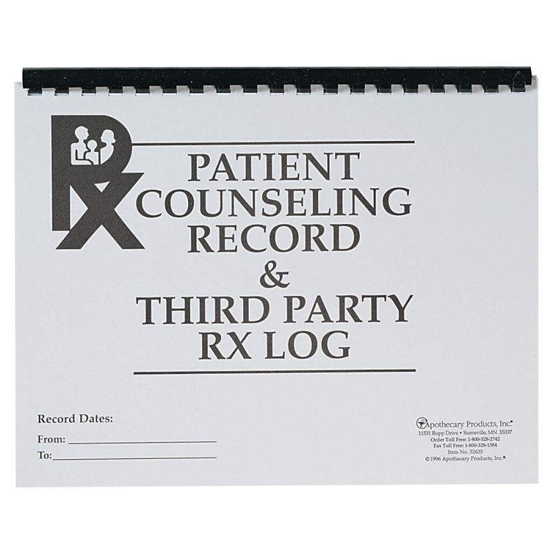 Patient Counseling Record & Third-Party Rx Log