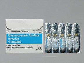 Desmopressin 4 Mcg-1Ml Amp 10x1 Ml By Hospira World Wide.