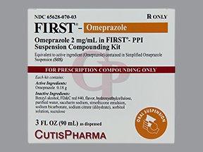 First-Omeprazole 2Mg/Ml Kit 3 Oz By Cutis Pharma.