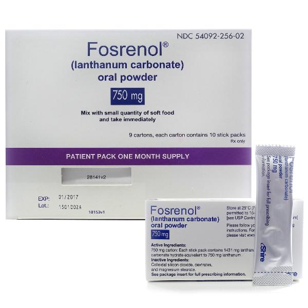 Fosrenol 750 Mg Oral Powder 90 By Shire Us Inc.