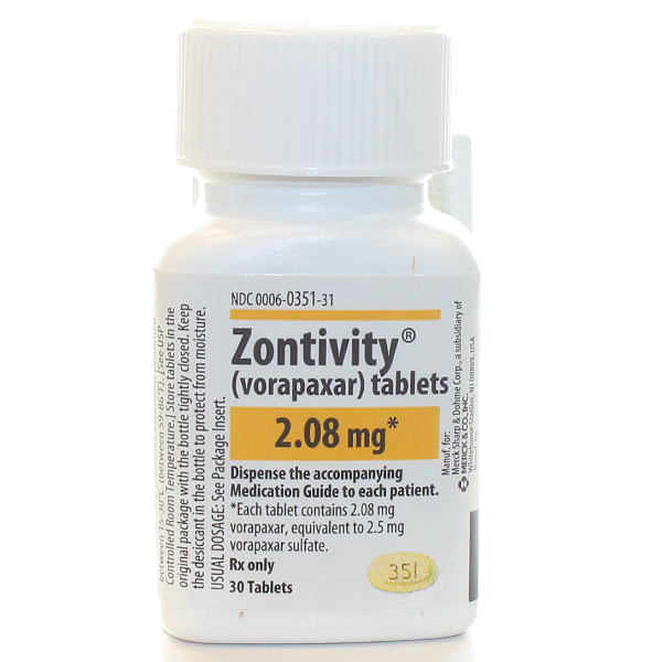 Zontivity 2.08 Mg 30 Tabs By Merck & Co.
