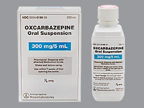 Image 0 of Oxcarbazepine 300MG/5ML 250 ML Suspension By Roxane Labs