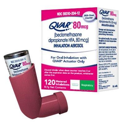 Prescription Drugs-Q - Qvar - Qvar Inhaler 80 Mcg Are 8.7 Gm By ...