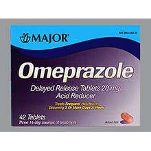 Omeprazole 20 Mg Dr 42 Tabs By Major Pharma