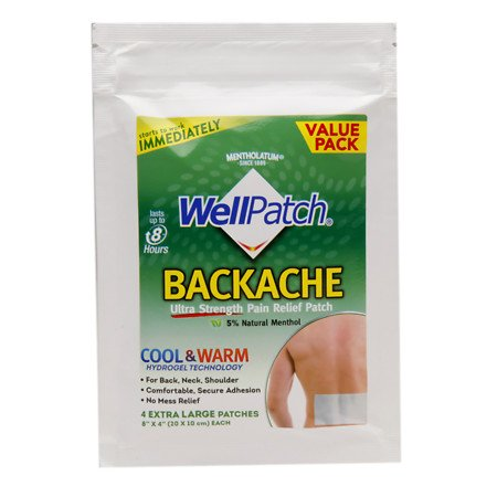 Wellpatch Backache Extra Large 4 Patches