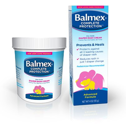 Image 0 of Balmex Diaper Rash Cream 4 Oz