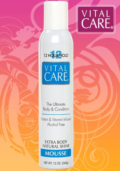 Vital Care Extra Body 12hr Mousse Alcohol Free 12oz
