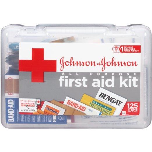 Johnson & Johnson First Aid All Purpose Kit 125 Pc
