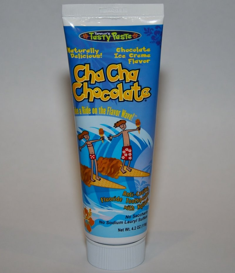 Tanner's Tasty Paste Cha Cha Chocolate Anti-Cavity Fluoride Toothpaste 4.2 Oz
