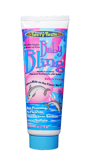 Image 0 of Tanner's Tasty Paste Baby Bling With Xylitol 4.2 Oz