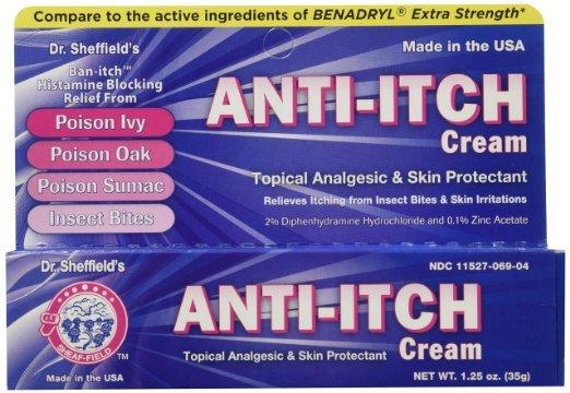 Dr. Sheffield Anti-Itch Cream with Histamine Blocker 1.25 oz