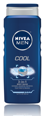 Nivea For Men Cool Body Wash 16.9 Oz