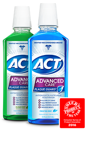 Act Advanced Care Frosted Mint Mouth Wash 18 Oz