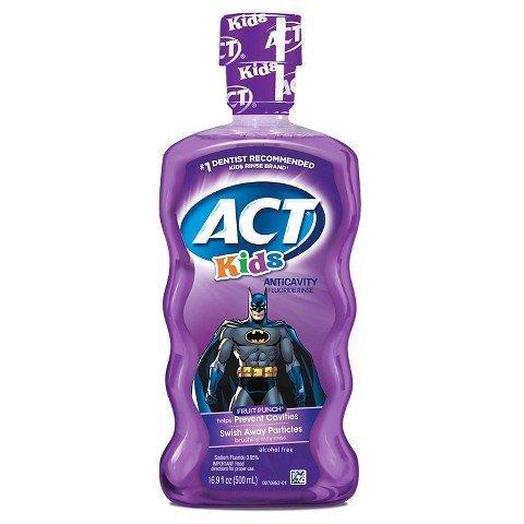 Act Anti Cavity Kids Batman Mouth Wash 16.9 Oz