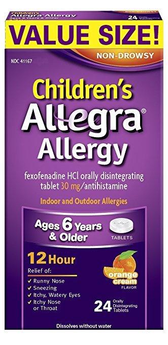 Allegra Otc Child 12 Hour 30 Mg Odt 24 Tablet