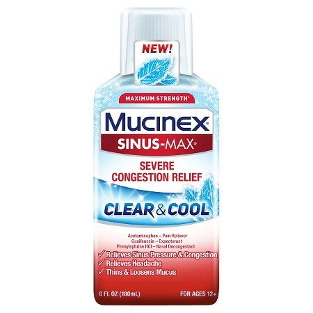 Mucinex Fast Max Cold Flu & Sore Throat Clear & Cool Liquid 6 Oz